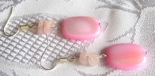 Náušnice s RŮŽENÍNEM a přír.perletí