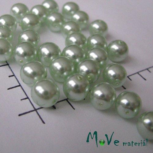 České voskové perle světle zelené 8mm,20g(cca32ks)