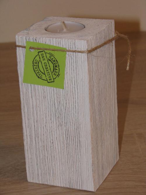 1 dílný svícen Provance bílý 16 cm - 1 ks