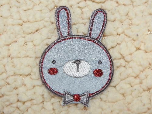 Nažehlovačka reflexní Zajíc hlava červený