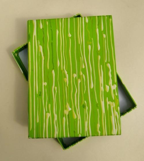 krabička HONZA - zelená se šmouhami