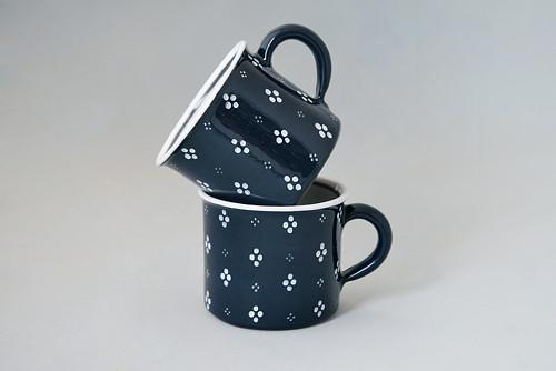 Kafáč 8 cm 4puntík - černý 0,3 l