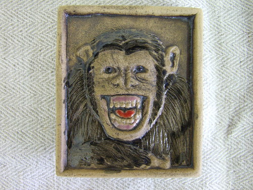 Magnetka keramická- opice