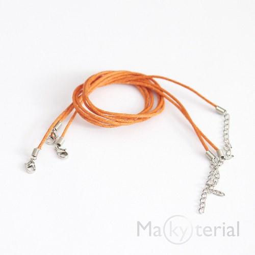 Voskované šňůrky - oranžová - 3ks