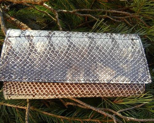 Dámská peněženka s pravou hadí kůží
