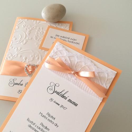 svatební menu_Coco- meruňkové, oboustranné