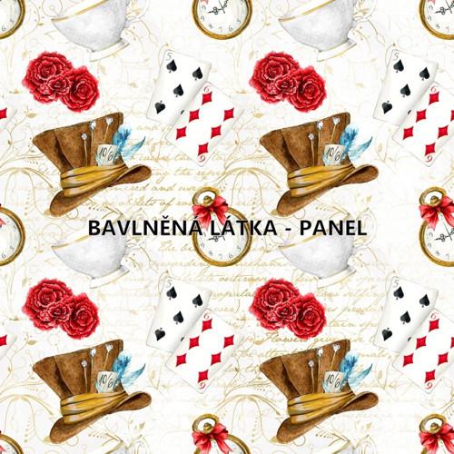 bavlněná látka- panel 16 x 16cm KOLEKCE WONDERLAND