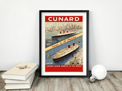 Vintage plakát Cunard