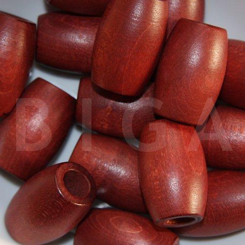 dřevěné korálky 22x33mm