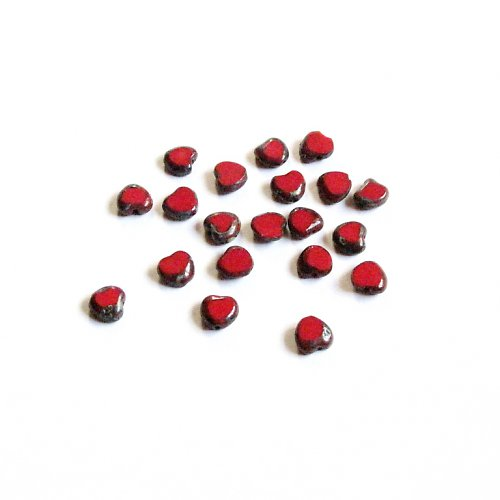 Korálky 8 mm, 40 ks ramš II. jakost