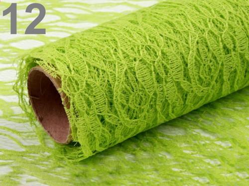 Krajka dekorační šíře 48-50 cm - zelená (1m)