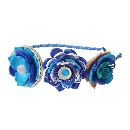 Čelenka gummy modrá