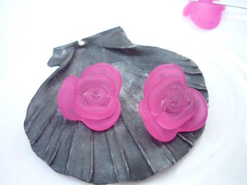 akrylové růže 4 ks - tmavorůžové