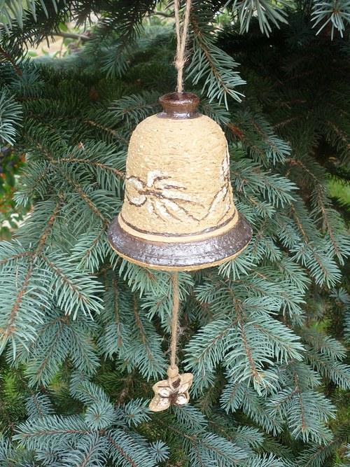 Keramický zvon - motýli-10cm
