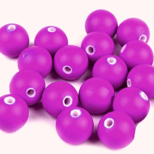 Korálky pogum. purpurové -12 mm - 10ks