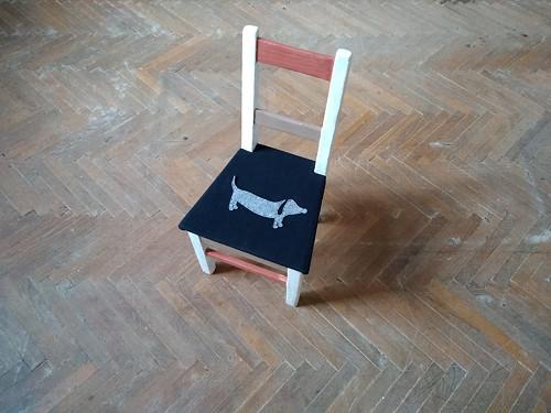 Dětská dřevěná židlička - renovace