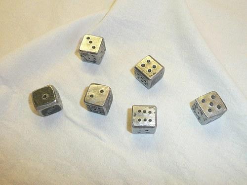Kované hrací kostky 6ks