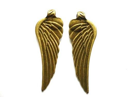 Andělská křídla velká 56 x 20 mm
