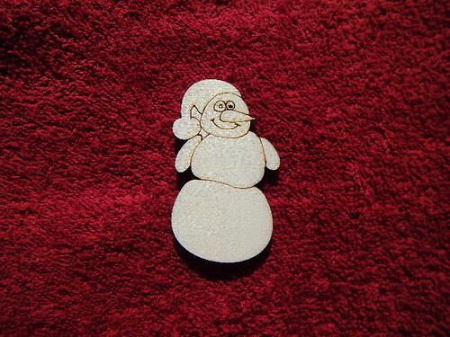 2d výřez sněhulák- v. 6x3,4cm