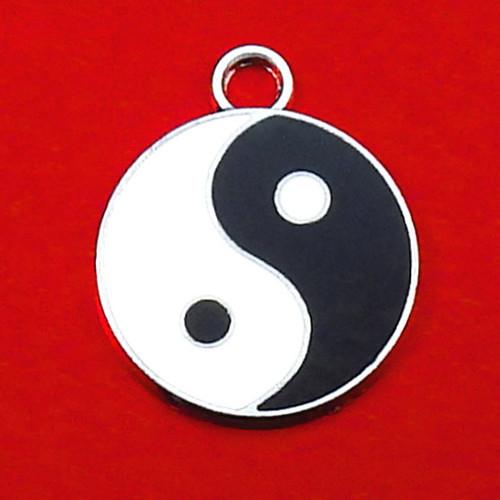Velký starostříbrný přívěsek jin-jang (yin yang)