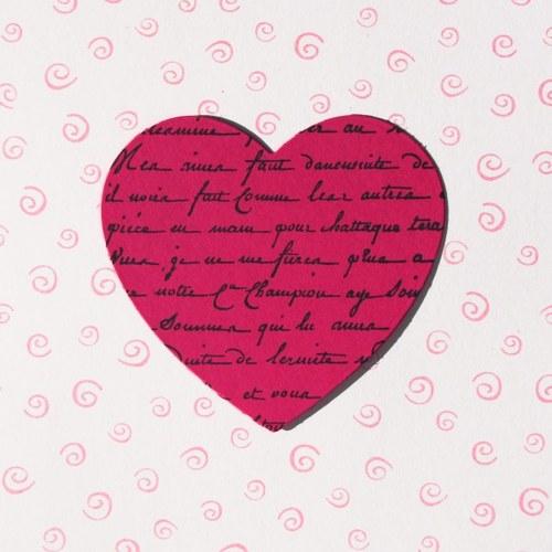 Srdce s rukopisem (velké)
