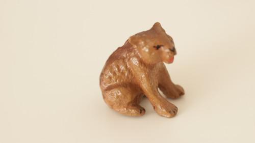Starožitná hračka, hliněná zvířata Medvídě