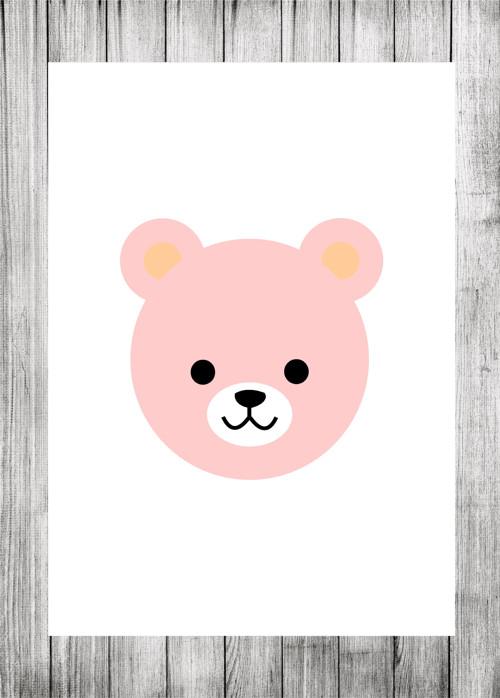 Pokojíček plakátek - medvěd růžový