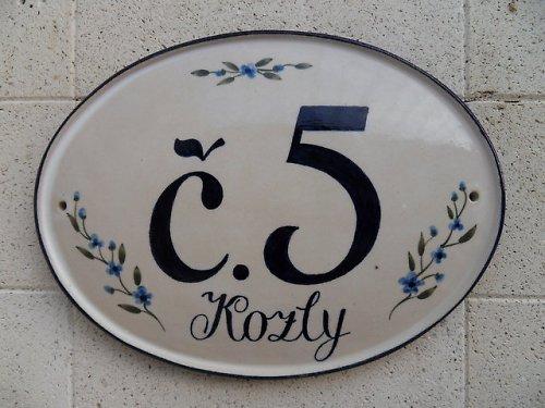 Domovní číslo na zakázku - č. 5 Kozly