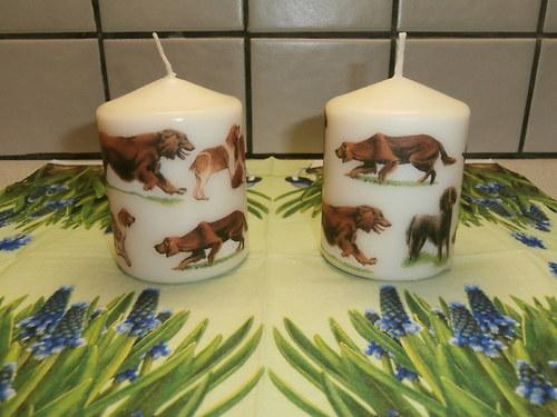 Svíčka s pejsky