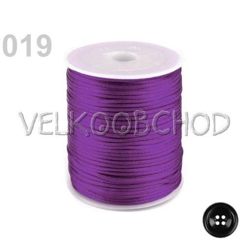Saténová šňůra pr.2mm (10m) - vášnivá fialová