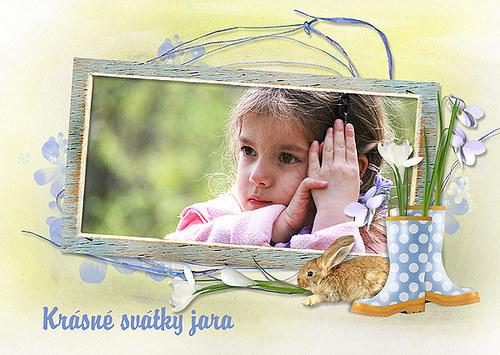 Velikonoční pohled s Vaší fotkou