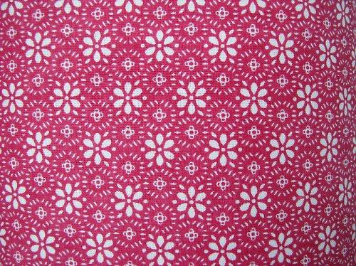 látka 100% bavlna - tmavě růžový kruh