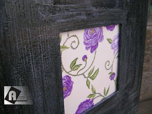 Fialový ART - květina