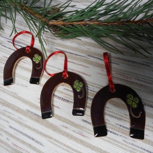 Vánoční ozdoba- podkova