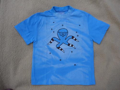 """Dětské modré tričko \""""chobotnice\"""" vel. 116"""