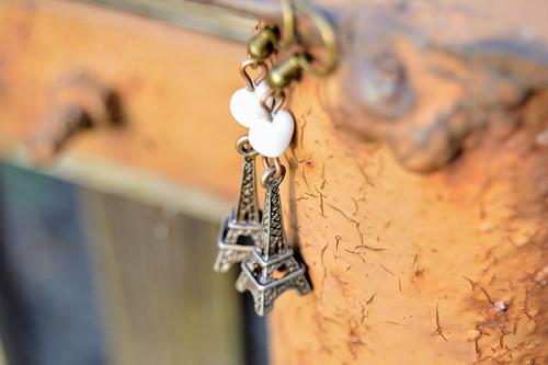 Eiffelovy věžičky - náušnice