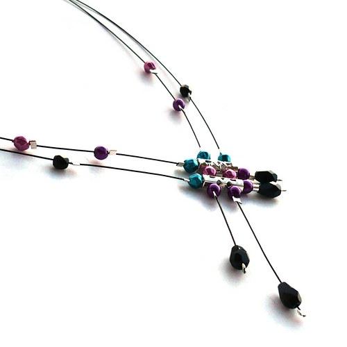 Bouřková duha - dešťový náhrdelník