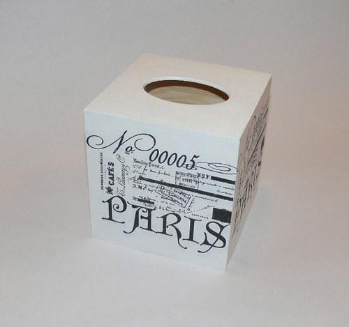 """Krabička na kapesníky - \""""PARIS - No 00005\"""""""