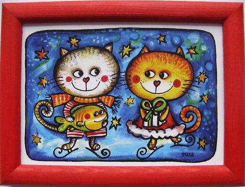 Kočky na ledě- obrázek