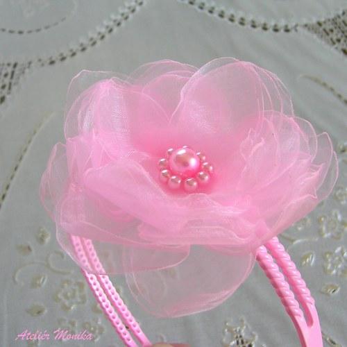 Růžový sen - čelenka