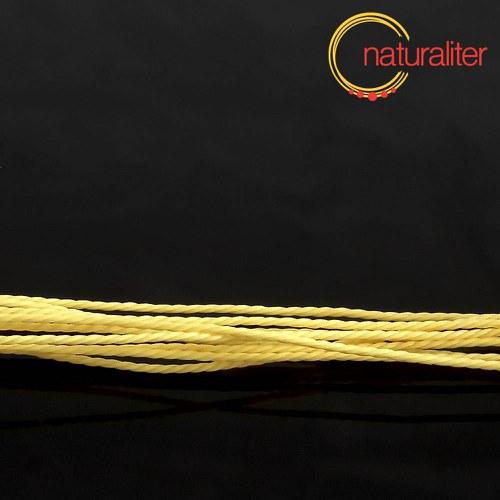 Voskovaná šňůra zapletená žlutá 1 mm, 5 m