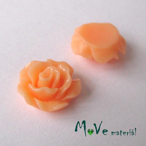 Kabošon růžička lesklá D2 - resin - 2ks, oranžová
