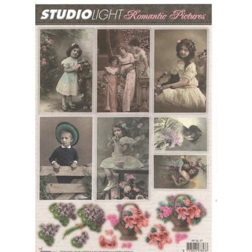 List A4 s obrázky Romantic Pictures č.07