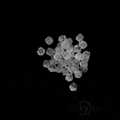 Zarážky k naušnicím - kytičky - 1000 ks