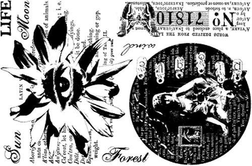 PaperArtsy Petals Plate 2, cling razítko