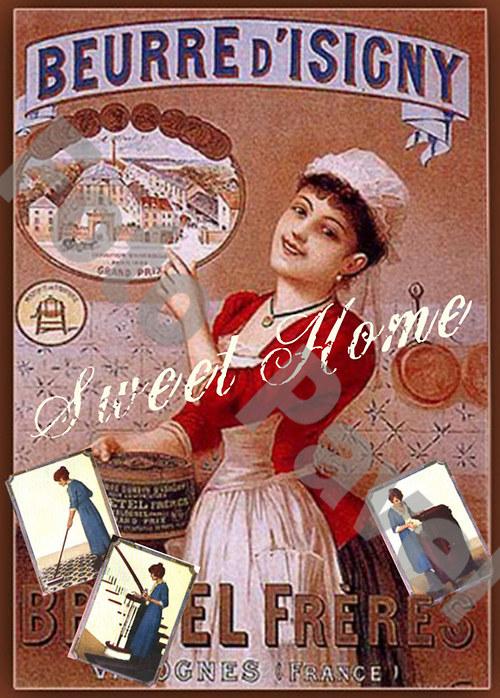 Vintage motiv - ... sladký domov ...