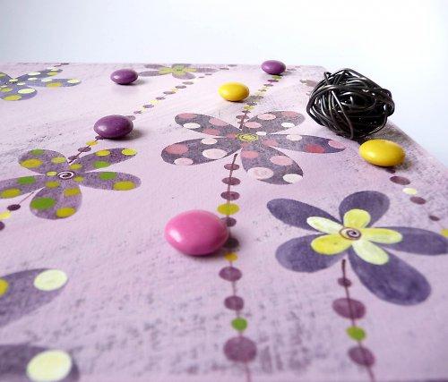 Sušák trpaslíků s alarmem - fialový s květy