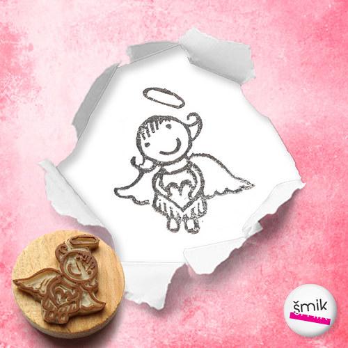 Andělka Zaláskovaná - razítko