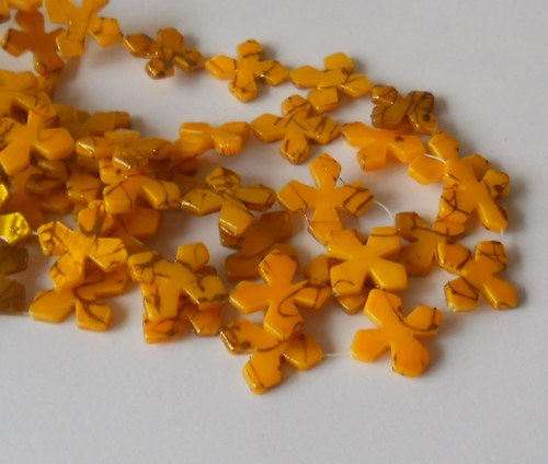 Perleťové korálky 19x19mm - 4 ks