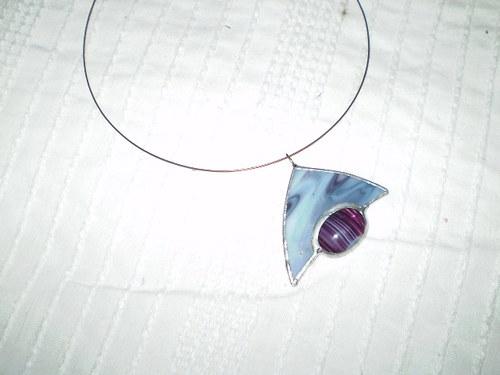 Vitrážový šperk na krk
